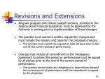 revisions and extensions