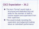 csci expectation 36 2