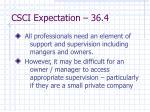 csci expectation 36 4