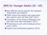 nms for younger adults 18 65