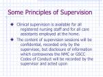 some principles of supervision