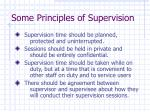 some principles of supervision20