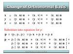 change of orthonormal basis23