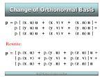 change of orthonormal basis24