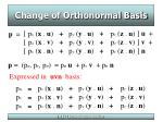 change of orthonormal basis25