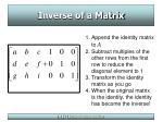 inverse of a matrix18