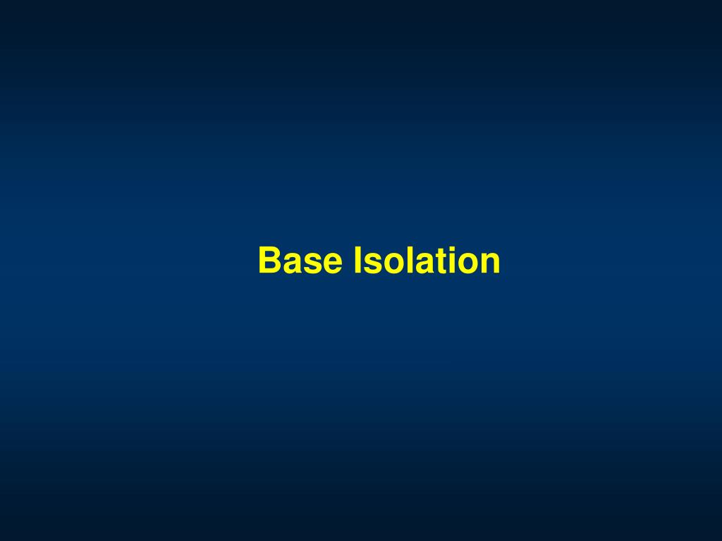 base isolation l.