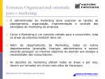 estrutura organizacional orientada para o marketing