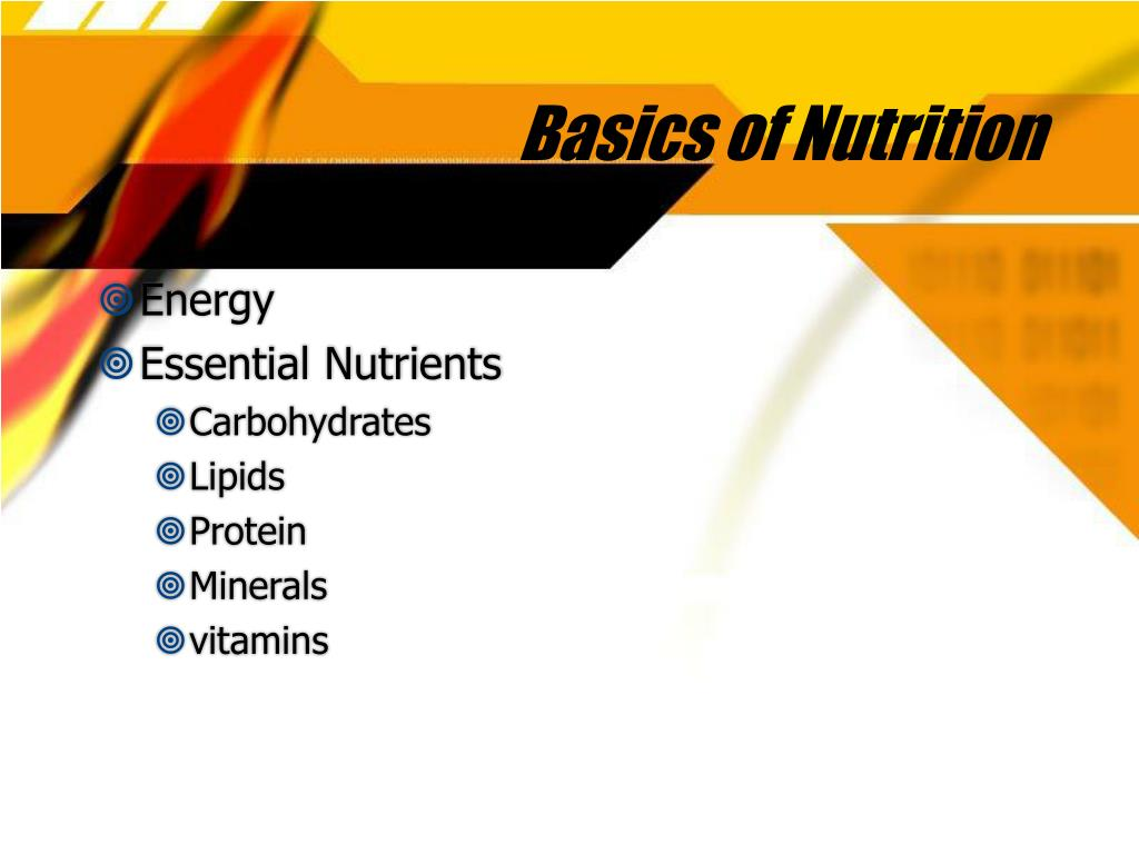 Basics of Nutrition