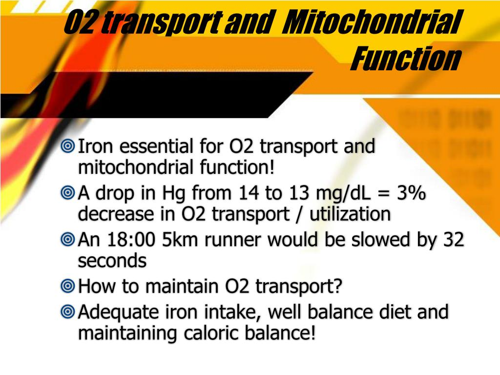 O2 transport and  Mitochondrial Function