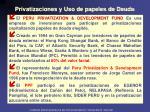 privatizaciones y uso de papeles de deuda1