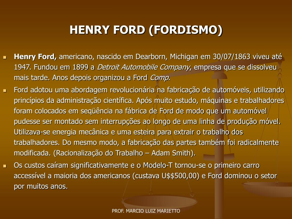 henry ford fordismo l.