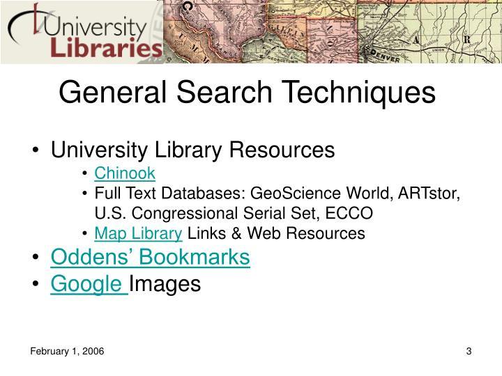 General search techniques