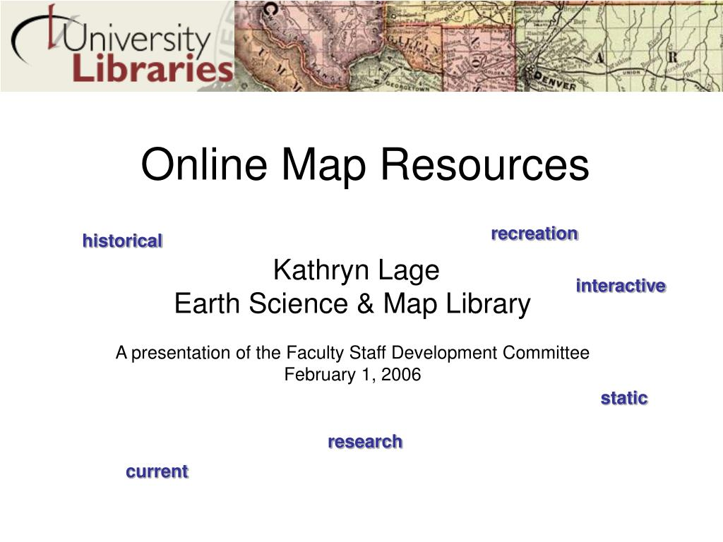 online map resources l.