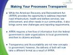 making your processes transparent1