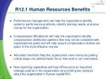 r12 1 human resources benefits