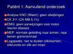 pati nt 1 aanvullend onderzoek