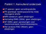 pati nt 1 aanvullend onderzoek1