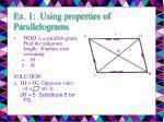 ex 1 using properties of parallelograms10