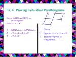 ex 4 proving facts about parallelograms18