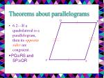 theorems about parallelograms