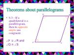 theorems about parallelograms6