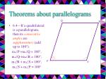 theorems about parallelograms7