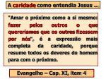 a caridade como entendia jesus62