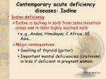 contemporary acute deficiency diseases iodine