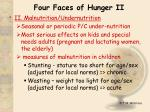 four faces of hunger ii