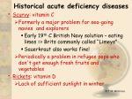 historical acute deficiency diseases16