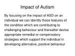impact of autism
