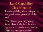 land capability classification