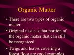 organic matter25