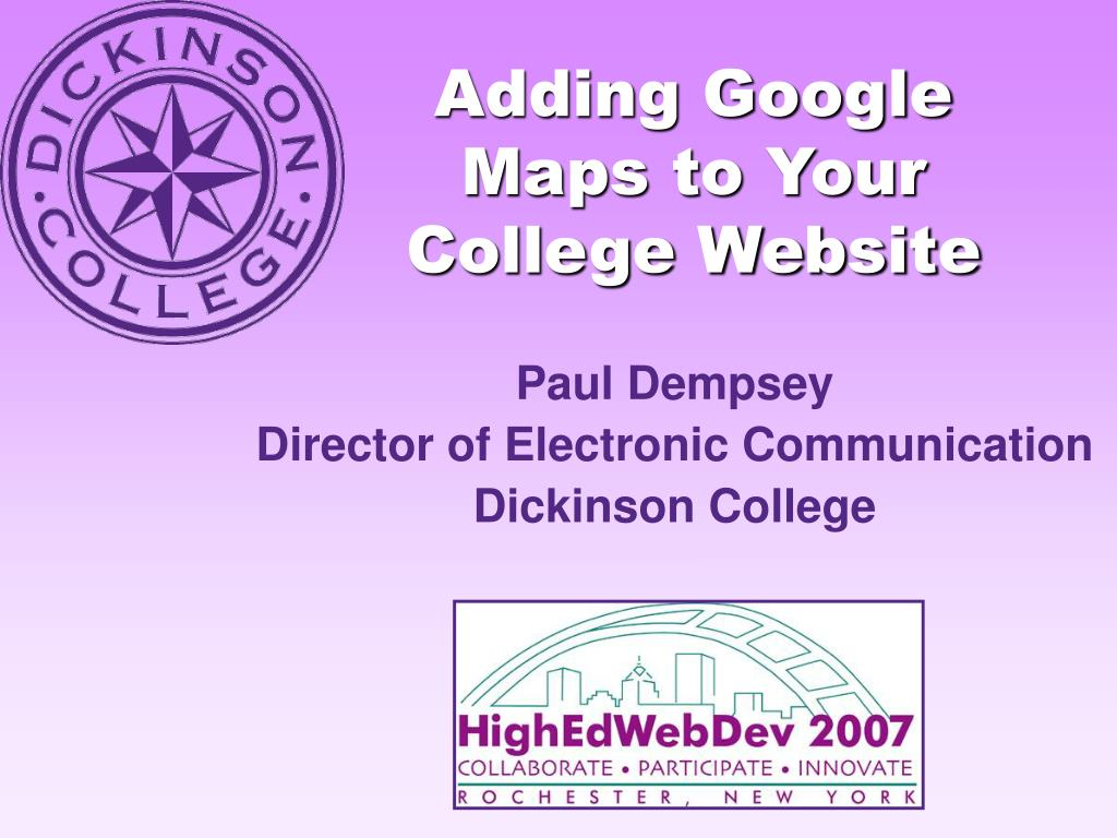 adding google maps to your college website l.