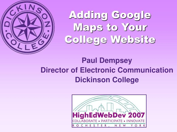 adding google maps to your college website n.