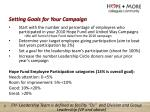 setting goals for your campaign