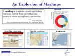 an explosion of mashups