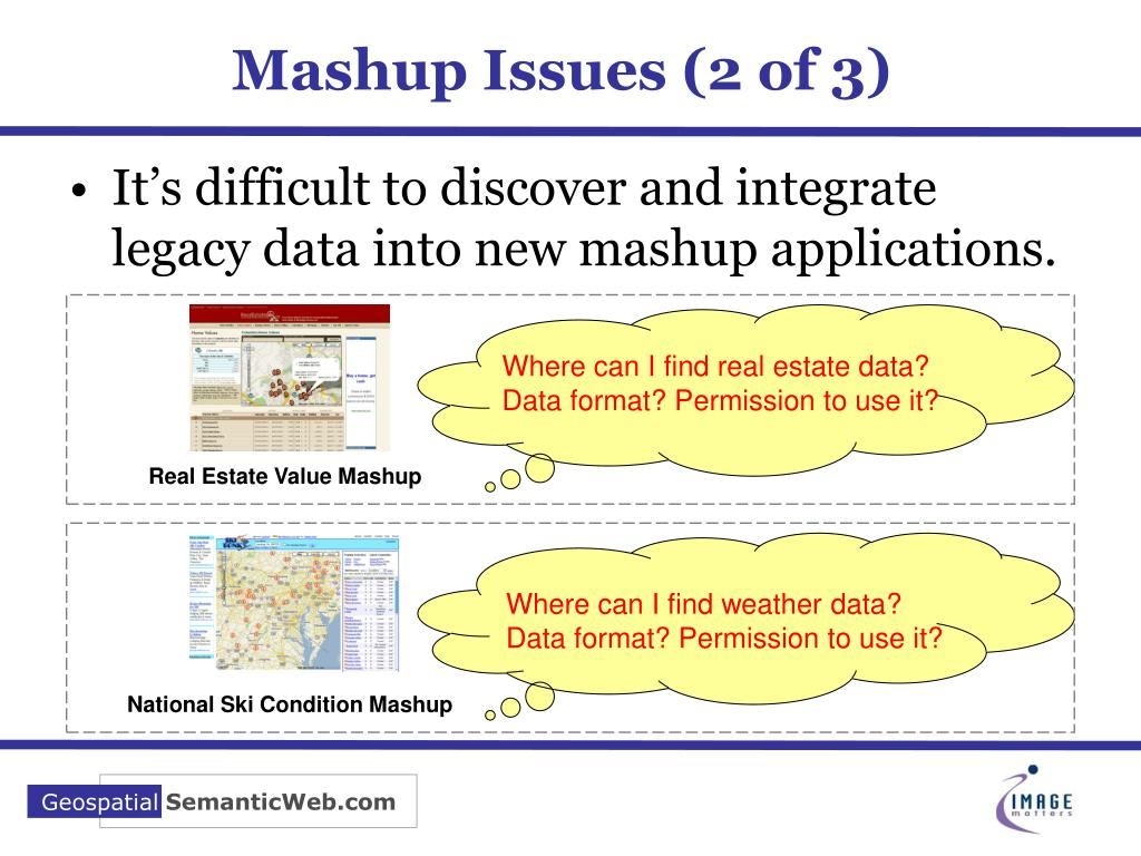 Mashup Issues (2 of 3)