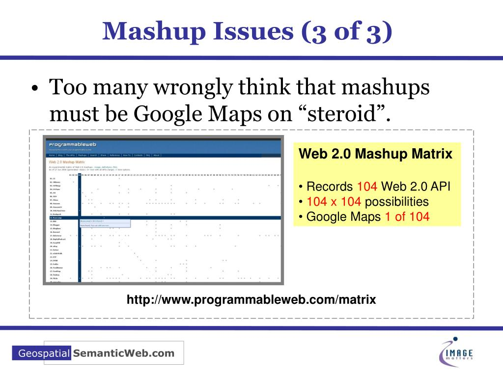 Mashup Issues (3 of 3)