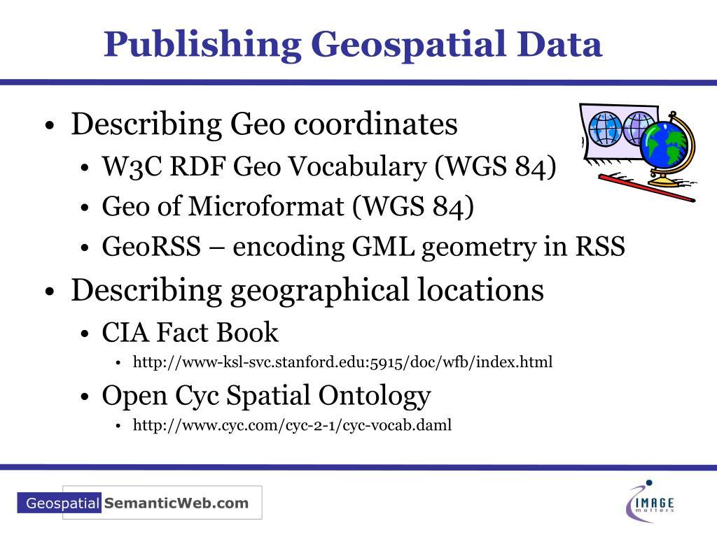 Publishing Geospatial Data