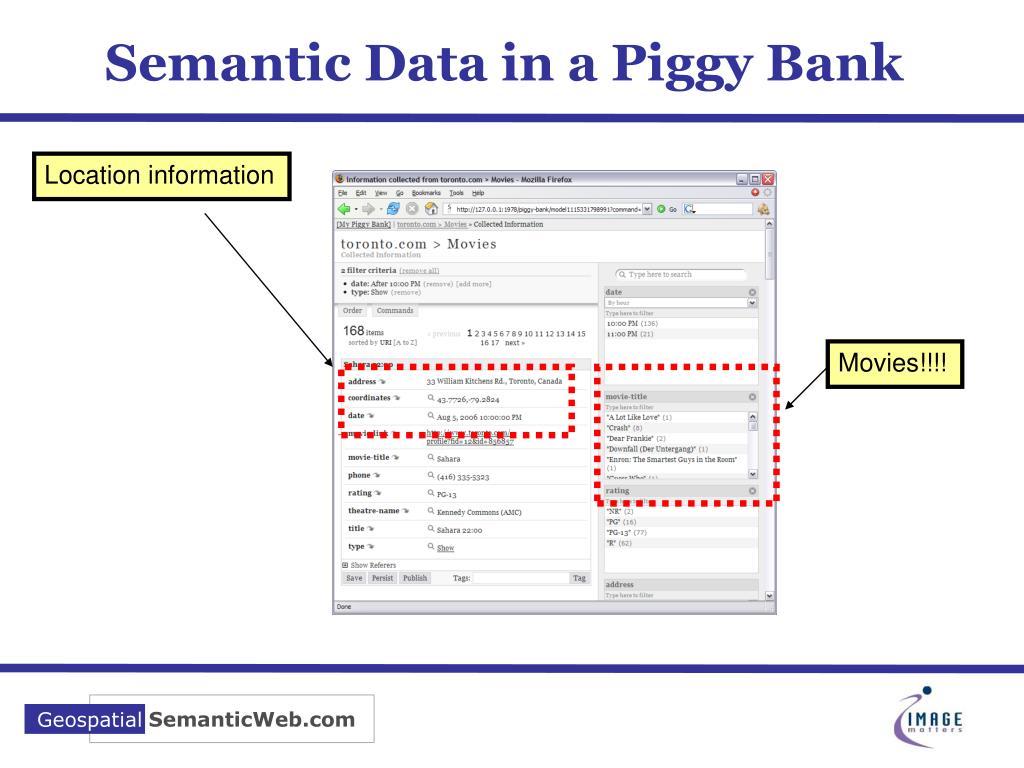 Semantic Data in a Piggy Bank