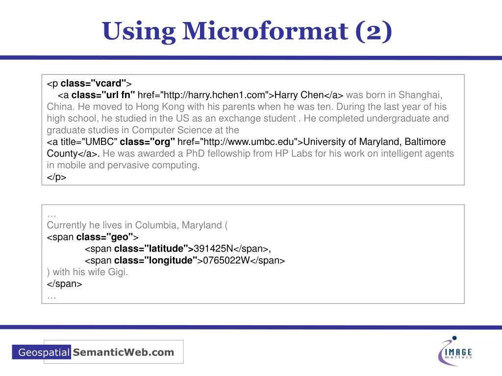 Using Microformat (2)