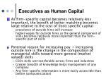 executives as human capital