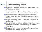 the schooling model