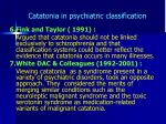 catatonia in psychiatric classification4