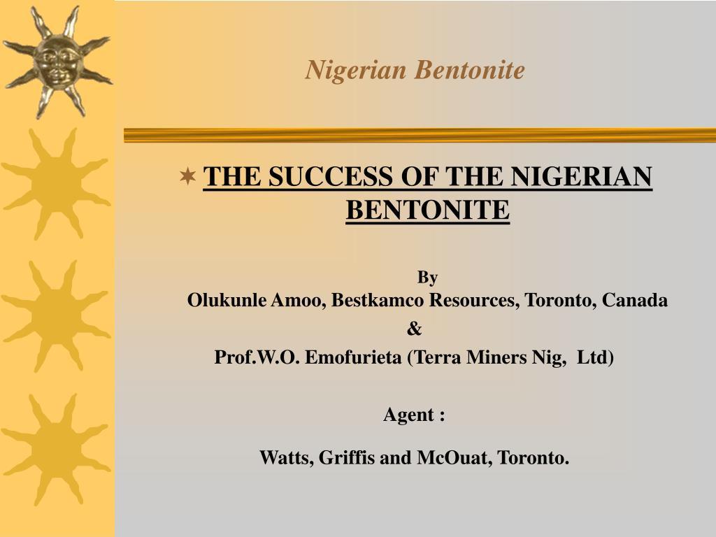 nigerian bentonite l.