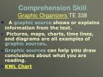 comprehension skill graphic organizers te 338