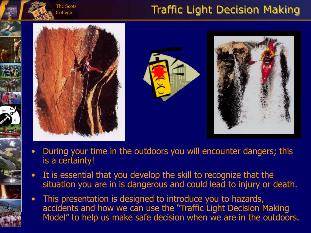traffic light decision making l.