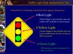 traffic light risk assessment tool